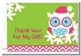 Winter Owl - Christmas Thank You Cards thumbnail