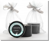 Winter Reindeer - Christmas Black Candle Tin Favors