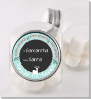 Winter Reindeer - Personalized Christmas Candy Jar