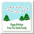 Winter Wonderland - Square Personalized Christmas Sticker Labels thumbnail