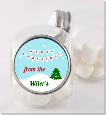Winter Wonderland - Personalized Christmas Candy Jar