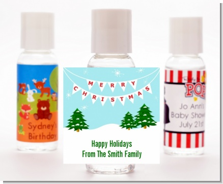 Winter Wonderland - Personalized Christmas Hand Sanitizers Favors