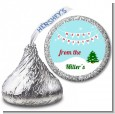 Winter Wonderland - Hershey Kiss Christmas Sticker Labels thumbnail