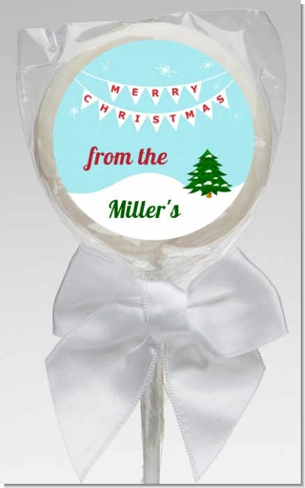 Winter Wonderland - Personalized Christmas Lollipop Favors