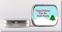 Winter Wonderland - Personalized Christmas Mint Tins