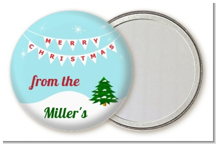 Winter Wonderland - Personalized Christmas Pocket Mirror Favors