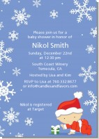 Christmas Baby Snowflakes - Baby Shower Invitations