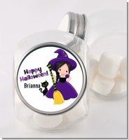 Witch and Broom Stick - Personalized Halloween Candy Jar