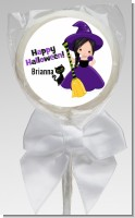 Witch and Broom Stick - Personalized Halloween Lollipop Favors