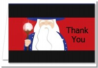 Wizard - Birthday Party Thank You Cards