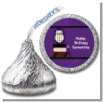 Wizard Tools & Owl - Hershey Kiss Birthday Party Sticker Labels thumbnail