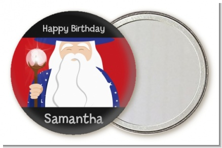 Wizard - Personalized Birthday Party Pocket Mirror Favors
