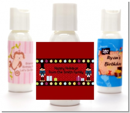 Wooden Soldiers - Personalized Christmas Lotion Favors