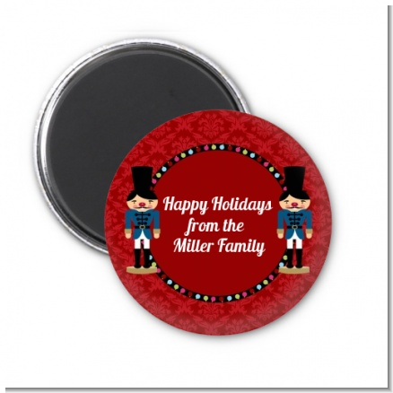 Wooden Soldiers - Personalized Christmas Magnet Favors