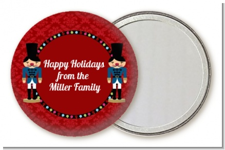 Wooden Soldiers - Personalized Christmas Pocket Mirror Favors