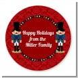 Wooden Soldiers - Round Personalized Christmas Sticker Labels thumbnail