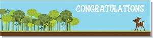 Woodland Forest - Personalized Baby Shower Banners