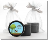 Woodland Forest - Baby Shower Black Candle Tin Favors