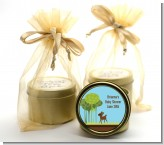 Woodland Forest - Baby Shower Gold Tin Candle Favors