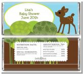 Woodland Forest - Personalized Baby Shower Candy Bar Wrappers