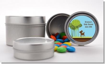 Woodland Forest - Custom Baby Shower Favor Tins