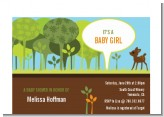 Woodland Forest - Baby Shower Petite Invitations