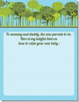 Woodland Forest - Baby Shower Notes of Advice