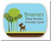 Woodland Forest - Personalized Baby Shower Rounded Corner Stickers