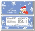 Christmas Baby Snowflakes - Personalized Baby Shower Candy Bar Wrappers thumbnail