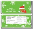 Christmas Baby Snowflakes African American - Personalized Baby Shower Candy Bar Wrappers thumbnail