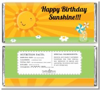 You Are My Sunshine - Personalized Birthday Party Candy Bar Wrappers