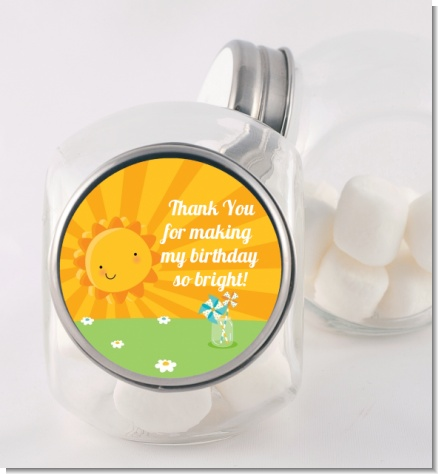 You Are My Sunshine - Personalized Birthday Party Candy Jar