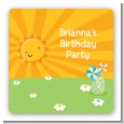 You Are My Sunshine - Square Personalized Birthday Party Sticker Labels thumbnail