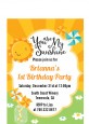 You Are My Sunshine - Birthday Party Petite Invitations thumbnail