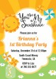 You Are My Sunshine - Birthday Party Invitations thumbnail