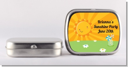 You Are My Sunshine - Personalized Birthday Party Mint Tins