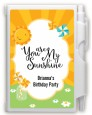 You Are My Sunshine - Birthday Party Personalized Notebook Favor thumbnail