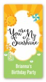 You Are My Sunshine - Custom Rectangle Birthday Party Sticker/Labels