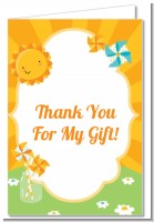You Are My Sunshine - Birthday Party Thank You Cards