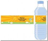 You Are My Sunshine - Personalized Birthday Party Water Bottle Labels