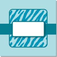 Zebra Print Baby Blue Baby Shower Theme