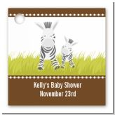 Zebra - Personalized Baby Shower Card Stock Favor Tags
