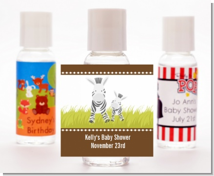 Zebra - Personalized Baby Shower Hand Sanitizers Favors