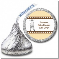 Zebra - Hershey Kiss Baby Shower Sticker Labels