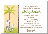 Zebra - Baby Shower Petite Invitations