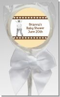 Zebra - Personalized Baby Shower Lollipop Favors