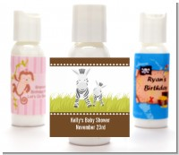 Zebra - Personalized Baby Shower Lotion Favors