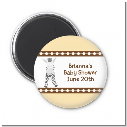 Zebra - Personalized Baby Shower Magnet Favors