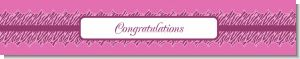 Zebra Print Baby Pink - Personalized Baby Shower Banners