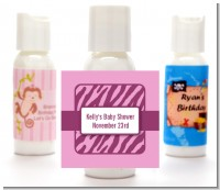 Zebra Print Baby Pink - Personalized Baby Shower Lotion Favors